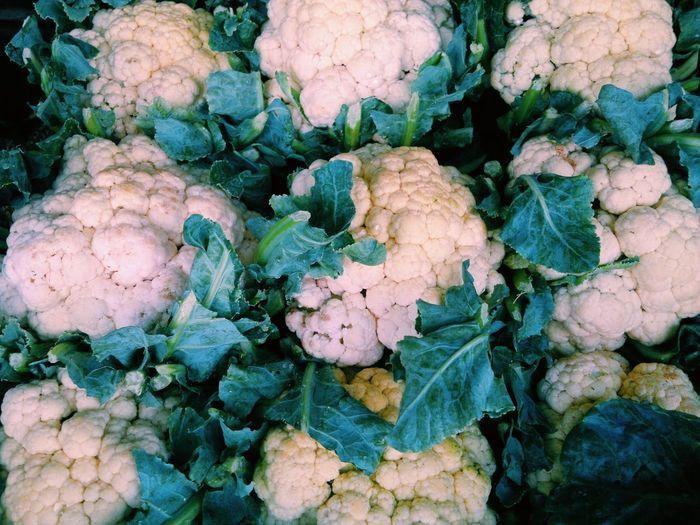 Full Frame Shot Of Cauliflowers