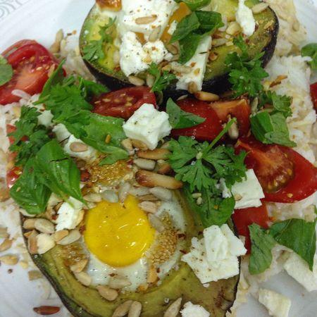 Avocado baked eggs Yummy Avocado Baked Eggs Healthy Food Healthy Eating Fetacheese Feta Showcase: January Egg Dubai UAE