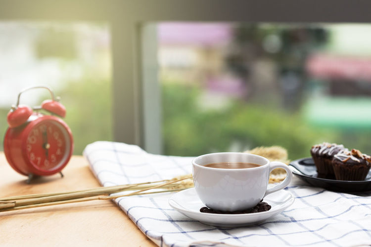 Morning Time. Coffee on the table. Breakfast Coffee Coffee - Drink Coffee Cup Crockery Cup Drink Eating Utensil Focus On Foreground Food Food And Drink Freshness Hot Drink Indoors  Kitchen Utensil Mug No People Refreshment Saucer Spoon Still Life Table Tea Cup