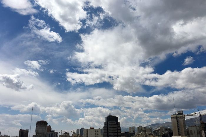 Sky and Clouds of Tehran Cityscape