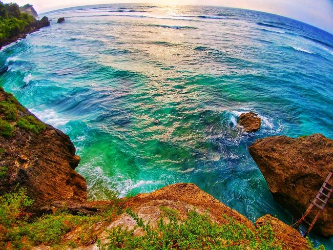 Water Nature Sea Beauty In Nature Scenics Outdoors Beach Physical Geography Landscape Sky High Angle View Close-up No People Day Wave