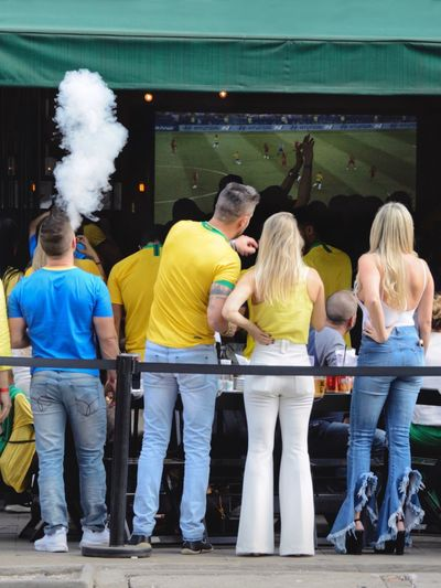 World Cup World Cup 2018 Urban City Life Togetherness Street Photography Watching Tv Soccer Group Of People Adult Women Men Togetherness Positive Emotion Emotion Standing Arts Culture And Entertainment Event People Happiness Friendship Casual Clothing Celebration Enjoyment Lifestyles Fun
