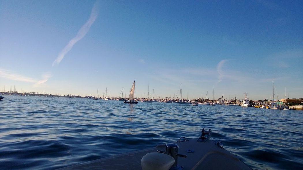 Boats Bow Harbor Ocean Sailing Newport Beach Newport Harbor