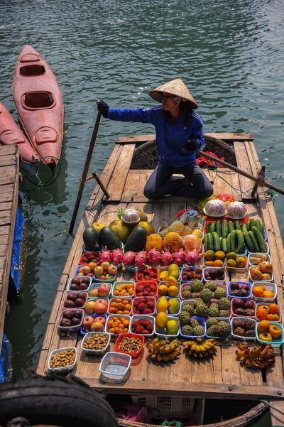 Boat People Fruit Food Water Food And Drink For Sale Real People Arrangement Day EyeEmNewHere