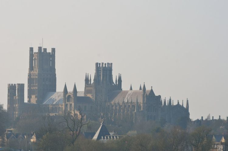 Ely Cathedral in Mist from south Architecture Building Exterior Built Structure Cambridgeshire Cathedral Ely Fenland Fens Gothic Norman Outdoors Religious