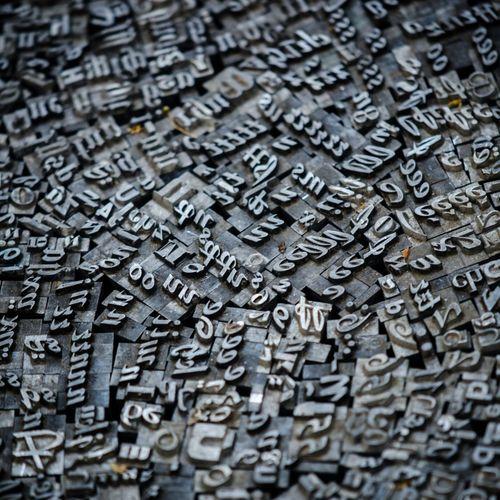 Metal letter stamp sets