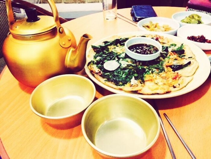 Makgeolli Pajeon Rainy Days Food Drink Food And Drink Foodphotography IPhoneography Yummy