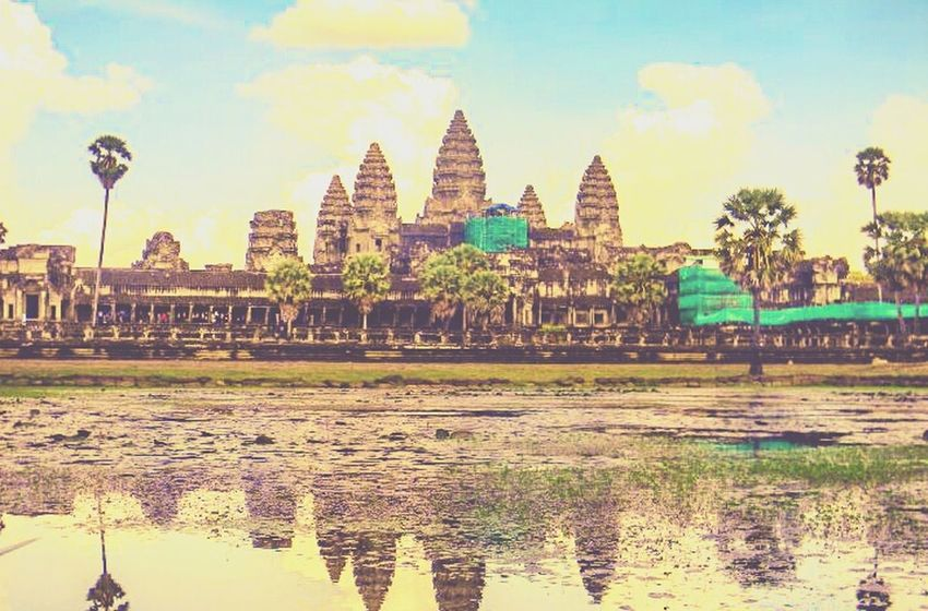 Distant memory. Angkor Wat, Cambodia Besteyeemtravel Travelingtheworld  Eye4photography  Photooftheday Natureporn Travelphotography Bestoftheday EyeEm Best Edits Cambodia Historical Pastel Power