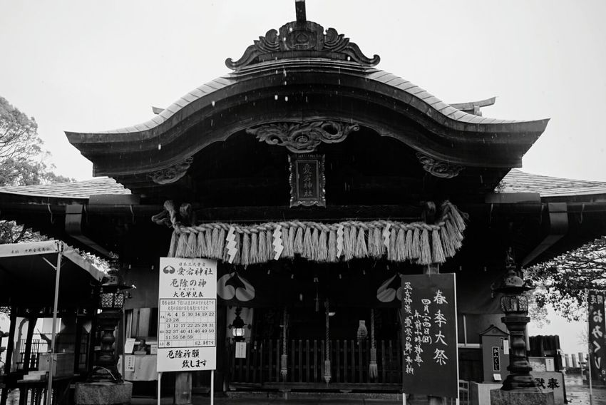 Atago Jinja Rany Day Rany Nice Place Nice Day Looking At Camera Shinto Shrine Blackandwhite Photography Monochrome Black And White