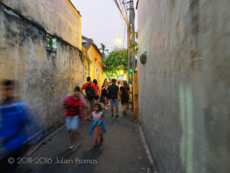 Julien Psomas Alley Ancient City Colour Colours Coulourful Footpath Hoi An Hoian  Men Person Road Street Vietnam Walking