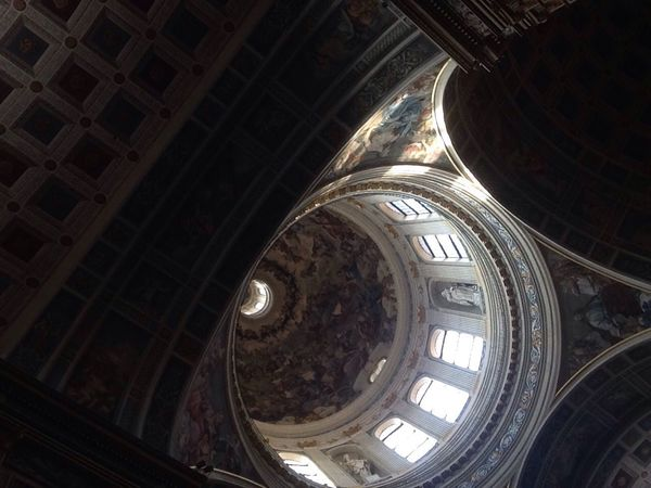 I can't stop to thinking about you. Architecture Indoors  Low Angle View Ceiling Dome Santandrea Mantova Mantua Decorations Schooltrip Art Artistlifeisthebestlife