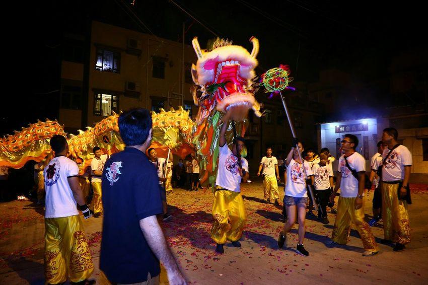 出動 - 祈福 Night Lights Light And Shadow Light And Shadows Dragon Dance Parade Things I Like Yeung Uk Tsuen EyeEm Masterclass EyeEm Gallery Yuen Long Hong Kong
