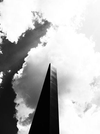 Monoliths & Dimensions Monoliths Architecture Arkiminimal Blackandwhite Building Exterior Built Structure City Cloud - Sky Day High Contrast Low Angle View Minimalism Modern Monochrome No People Outdoors Sky