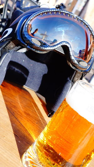 Beer Beer Glass Beer Time Chilling Close-up Day Drink Drinking Drinking Beer Drinks Enjoying Life Enjoying The Sun France Glasses Leisure Leisure Activity Leisure Time No People Outdoors Relax Relaxing Ski Glasses Ski Helmets Vacations Val Thorens
