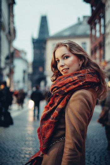 How I met Russian woman in Prague Beautiful People Beautiful Woman Beauty City Fashion One Young Woman Only Portrait Prague Street Street Photography Winter Young Adult