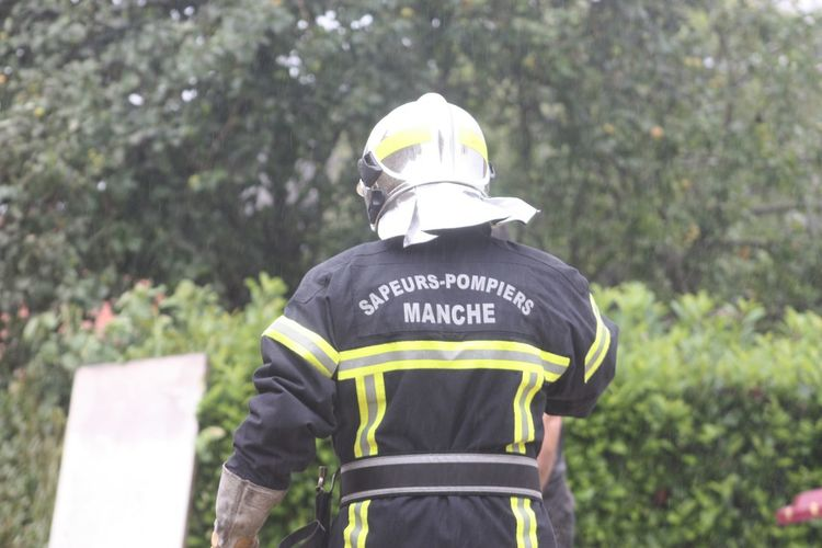 Fireman in protective clothing
