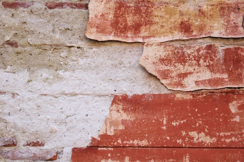 Wall texture Full Frame Backgrounds No People Textured  Day Red Wall - Building Feature Pattern Built Structure Close-up Architecture Peeling Off Rough Paint High Angle View Weathered Outdoors Damaged White Color Old