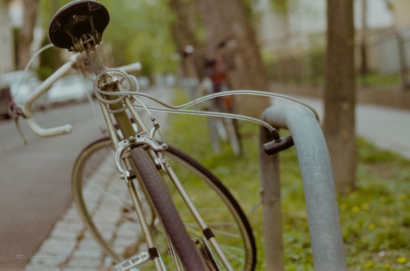 Bicycle Bicycle Rack Close-up Day Focus On Foreground Land Vehicle Metal Move On Eyeem Move On 😔😔😔😔 No People Outdoors Transportation