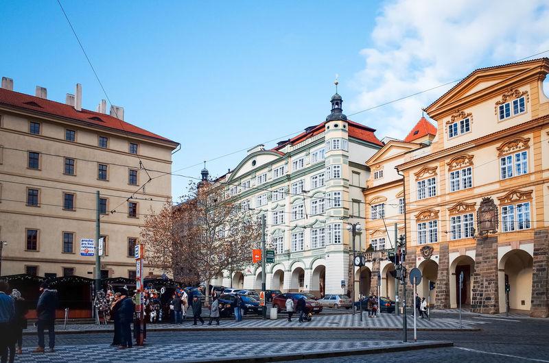 Tourists at city square