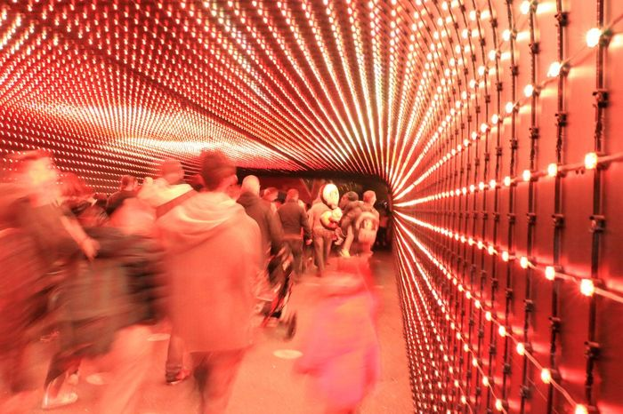Psychedelic Hallway Light Lights Red Adult Adults Only Blurred Motion Corridor Corridor Walk Day Large Group Of People Lobby Men Outdoors People Peoplewalking Psicadelic Redlight Togetherness Walkway