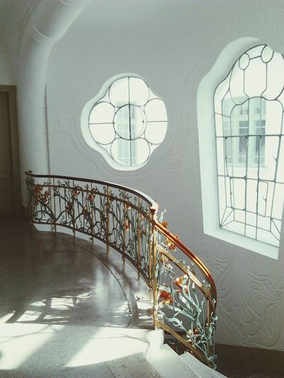 Window Indoors  Spiral Staircase No People Archival Modern Staircase Stairs Artnouveau Szeged Reök Day