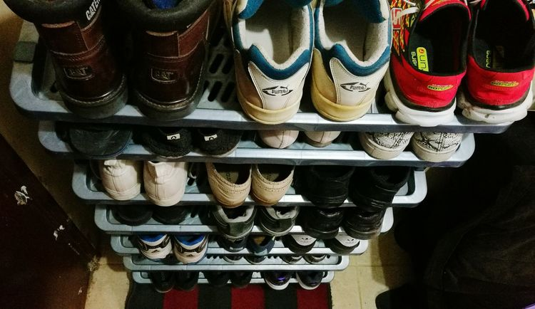 Beautifully Organized Arrangement In A Row Close-up Variation No People Shelf Shoesaddict Footwears Indoors  no people
