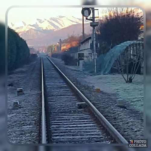 Railway Cold Temperature Winter No People Tranquility Mountain Outdoors Landscape