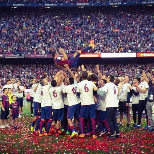 6graciasxavi Legend Winner Championsfcb Fcblive Viscaxavi Visca_Barca @fcbarcelona 🎇🎉🎊⚽⚽⚽🏆🏆🏆🔴🔵