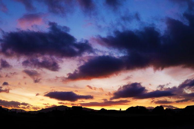 希望瑪莉亞少破壞,多灌溉 #颱風 Cloud - Sky Sky Sunset Silhouette Beauty In Nature Scenics - Nature Tranquility Nature