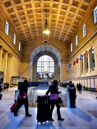 Union Station Train Station Canada Toronto Viarail Stone Material Transport Station Adult Sitting Day
