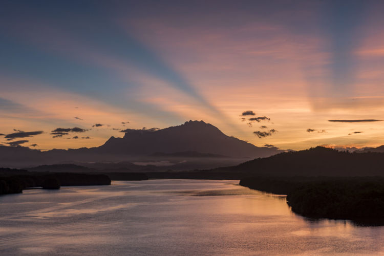 Scenic view of mount Kinabalu from Kota Belud Borneo Mount Kinabalu UNESCO World Heritage Site Beauty In Nature Mountain Nature Sabah Scenics - Nature Sky Sunrise Sunset