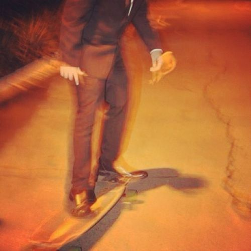 late longboarding Light And Shadow Streetlights Bros Suit And Tie