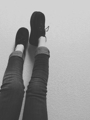 Shoes Creepers Demonia Love Black Leg Oldschool