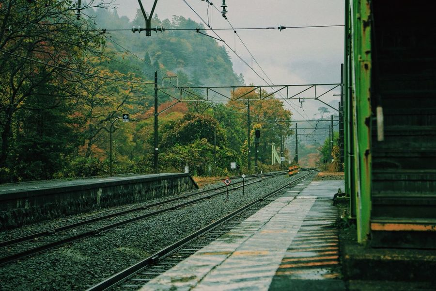 The Station in the water Autumn Train Station Neveragain Japan Beutiful  Rain Photography VSCO Canon