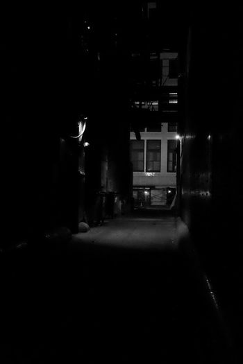 Da Loop Alley Illuminated Night No People City Life Straightoutofcamera Architecture Taking Photos Straightfromcamera Standing Solitude Chicago Available Light