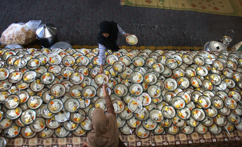Ramadan in Indonesia. Food And Drink Food One Person Real People Healthy Eating Large Group Of Objects Freshness Fruit Men Abundance Wellbeing Day Retail  Indoors  For Sale Business Market Market Stall Adult