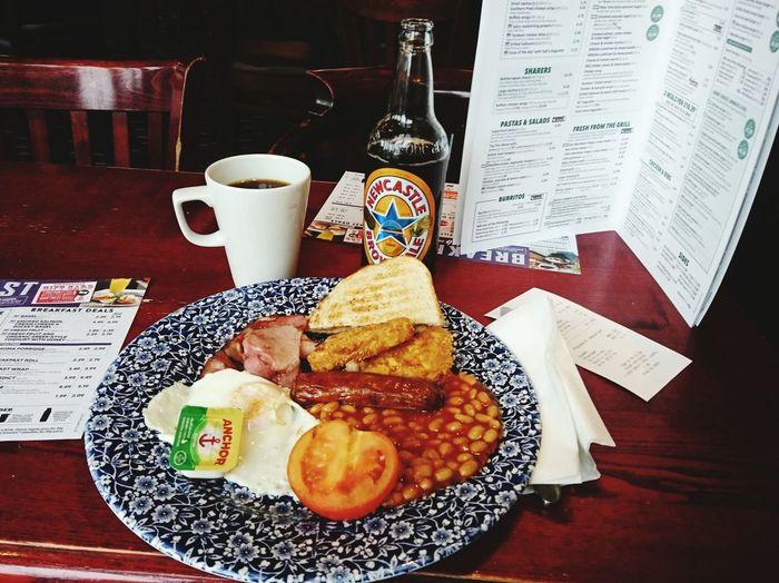 Breakfast Beer Liverpool Merseyside Richard John Blackler Jdwetherspoons Pub Coffee Black Coffee Newcastle Brown Ale