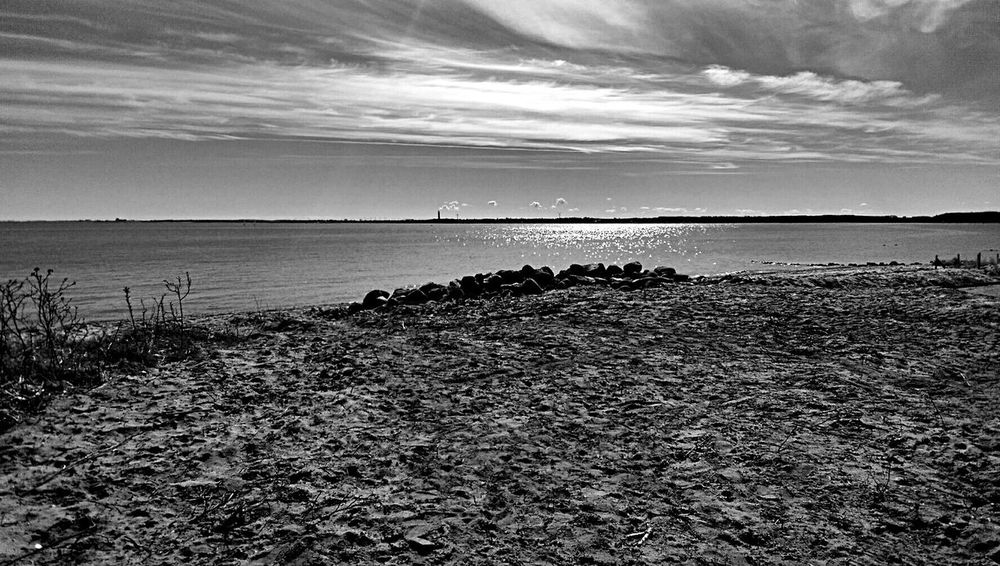 Beach Life Is A Beach Sky And Clouds BlackandwhiteSky And Sea Beautiful Day