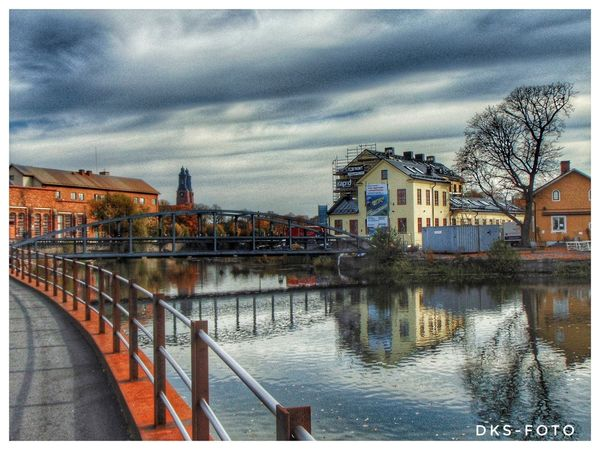 Sweden The True Story Eskilstuna-streetphotography City Cityscape Water Tree Reflection Sky Architecture Building Exterior Built Structure Cloud - Sky