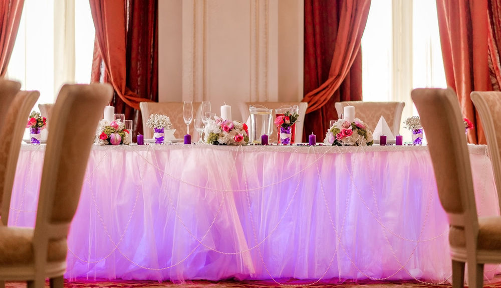 Luxury wedding banquet at restaurant Banquet Engagement Holiday Romantic Table Setting Table Arrangements Wedding Wedding Reception Celebration Event Curtain Decoration Illustration Indoors  Indoors  Interior Design Marriage  No People Party Restaurant Table Table And Chairs Wedding Wedding Banquet Wedding Reception Decoration Wedding Table