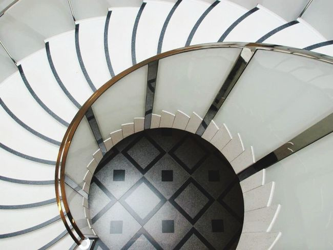 Minimalist Architecture Staircase Architecture Spiral Steps And Staircases Spiral Staircase Railing Steps No People Curve Indoors  Close-up