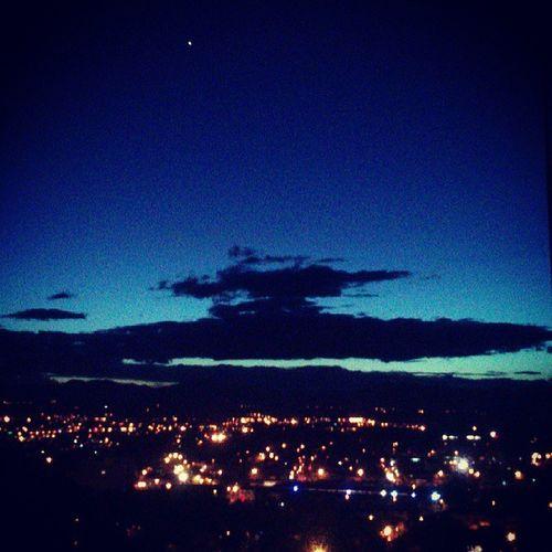 Anocheciendo en Popayán desde el Morro un excelente Paisaje para inspirarse