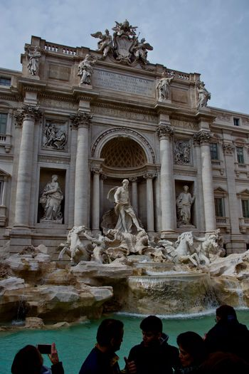Roma Trevi Fountain Turistic Attractions Turistic Attraction Architectural Column Architecture Art And Craft Built Structure Craft Creativity History Human Representation Italy Representation Sculpture Statue The Past Travel Destinations Trevi Fontanaditrevi Fontana Roma Italia Turistic Place