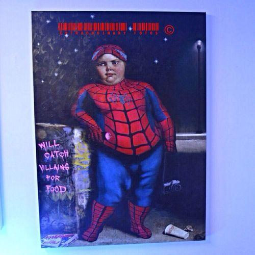 Feed The Boy Art Boy Spider-man Eat