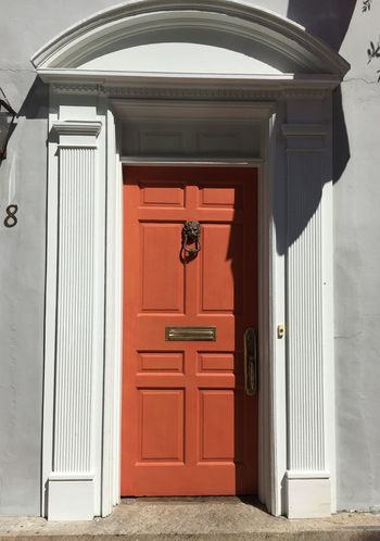 Charleston SC Door Entrance Closed Building Exterior Built Structure Red Architecture Outdoors Entrance No People Day