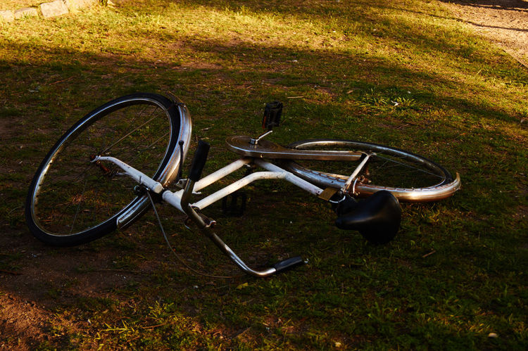 Bicicle Everyday Things Exploring No People Taking Photos Outdoors Springtime