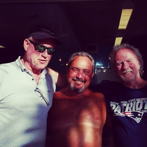 On the far left, former New York Ranger, Ray Markham... Nyrangers Beachboxcafe VandyBeach
