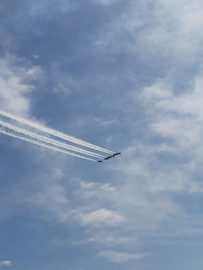 Thunderbirds, Air Show, Aviation Vapor Trail Aerobatics Fighter Plane Airshow Airplane Teamwork Acrobatic Activity Flying Stunt Performance Plane Air Force Formation Flying Respect Military Airplane Military US Air Force Us Military