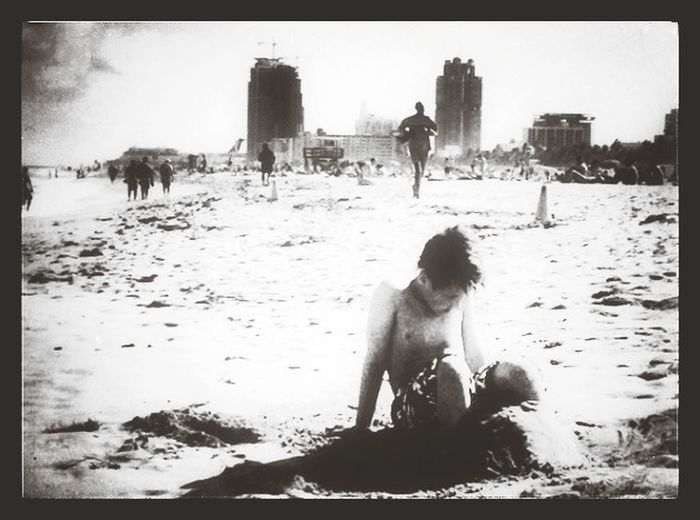 Used in Miami Beach . A Boy Playing in the Sand Skrill IT Far From Home
