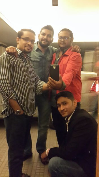 Selfie wid frnds who r more den brothers ...luv u guys